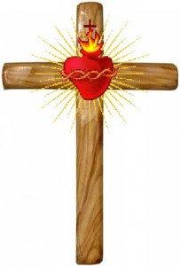 Pensont à Jésus et à sa passion....... dans Non classé croix_coeur1-203x300